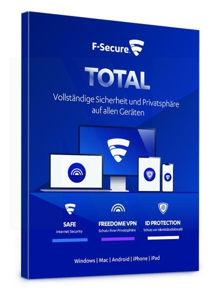 F-Secure Total Security & VPN 2021   Multi Device   Download
