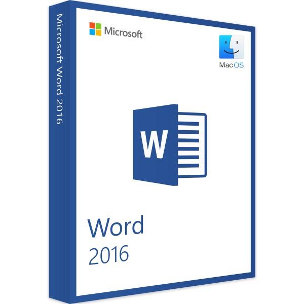 Microsoft Word 2016 MAC